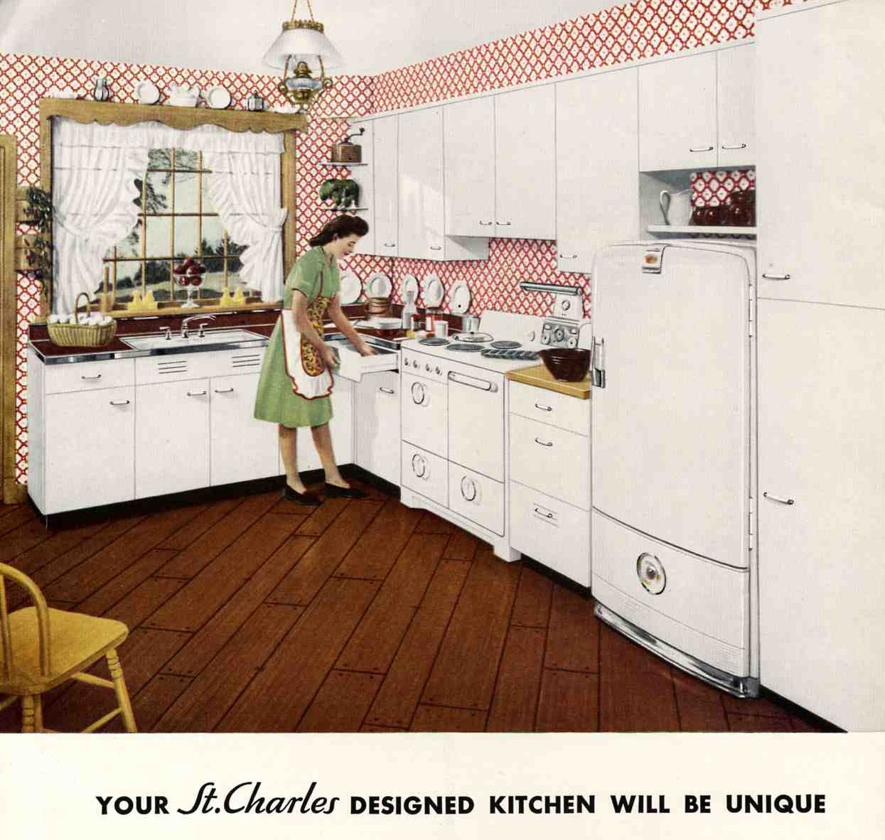 Retro Kitchen Illustration: 1948 Was A Very Good Year: Awesome Retro Kitchens And Cary