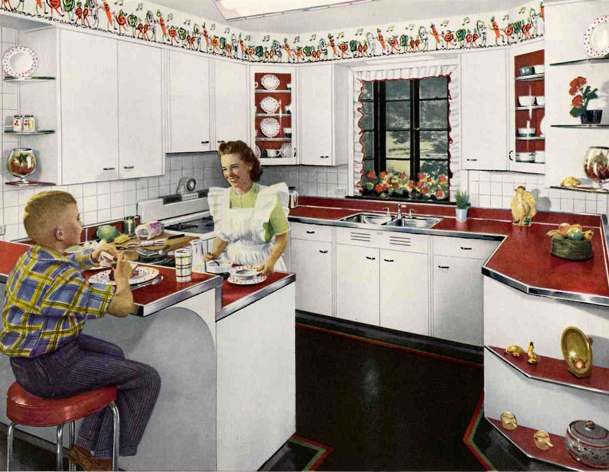 1948 was a very good year awesome retro kitchens and cary - Vintage kitchen ...