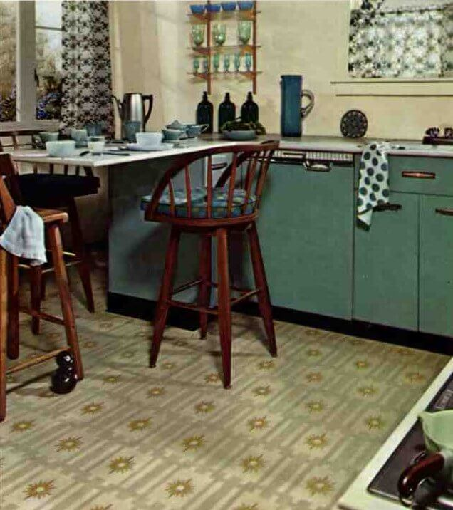 Dark Green Kitchen: Retro Kitchen Paint Colors From 50s To Early 60s Geneva