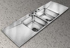 Stainless Steel Sink Counter Combo : Stainless steel sink, counter, drainboard combos are classic 40s 50s ...