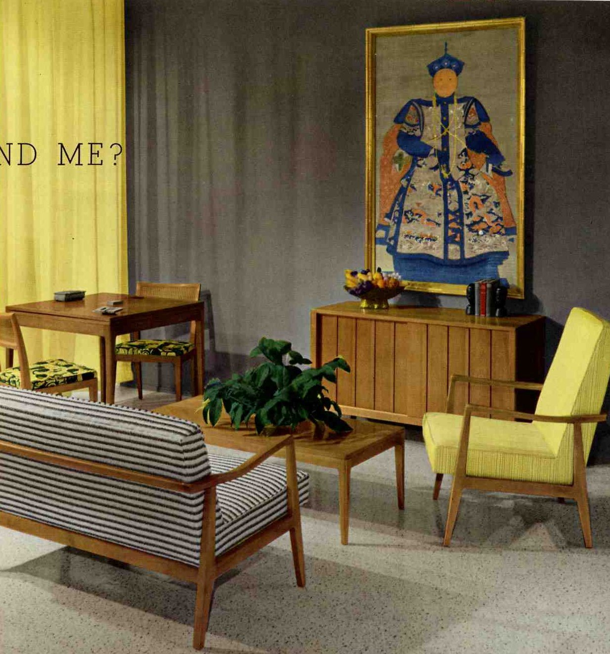 50s and 60s living room favorite chinese emperors retro for Home decor 50s