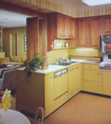 Vintage late 50s early 60s St. Charles steel kitchen cabinets