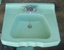 retro green 50s bathroom sink