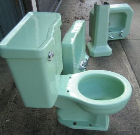 Charming Green 50s Bathroom Retro Renovation