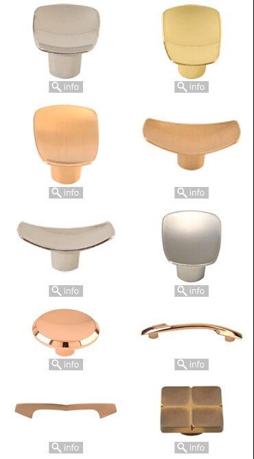 Retro coppertone cabinet knobs from LA Hardware