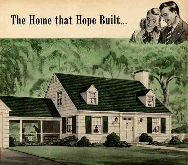 world war II postwar housing 1946 cape
