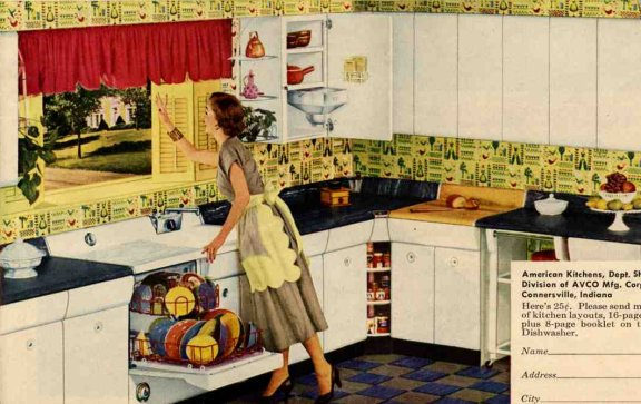 1953 American metal kitchen cabinets