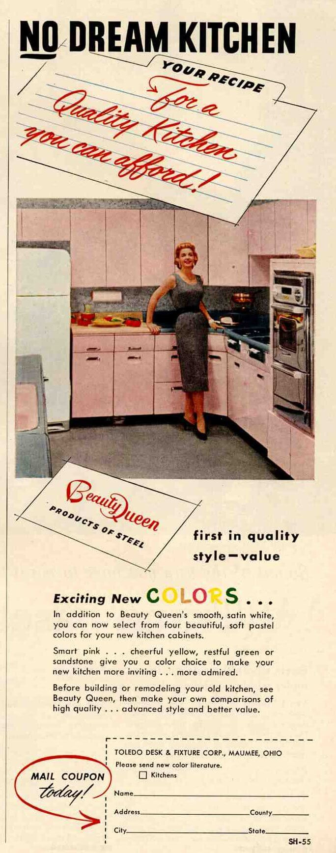Metal kitchen cabinets sale retro renovation forum steel for Beauty queen kitchen cabinets