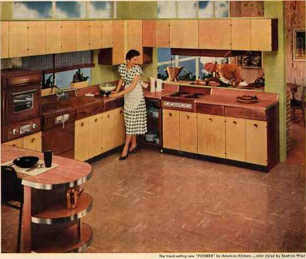 1956 American kitchen metal kitchen