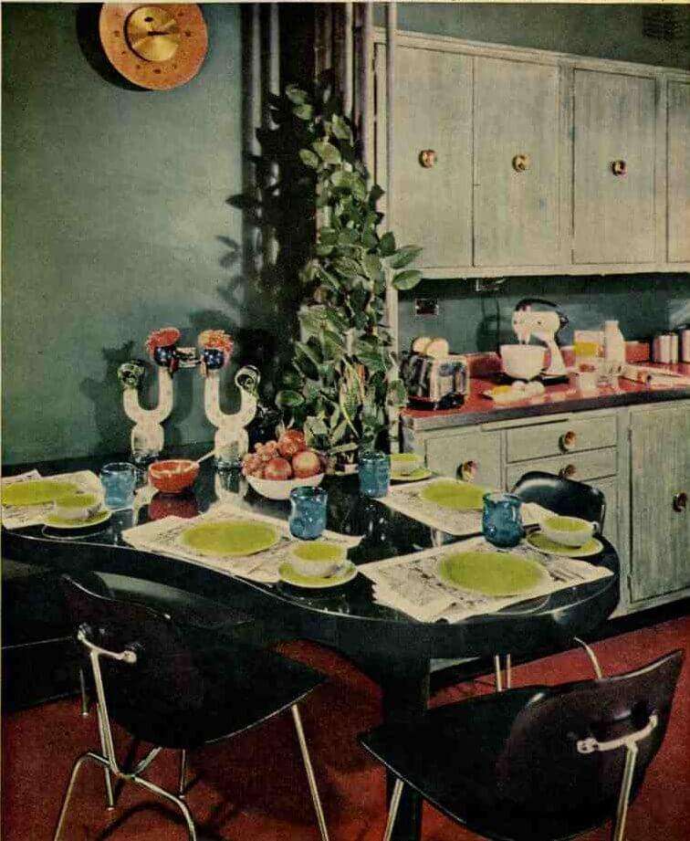 1957 blue kitchen