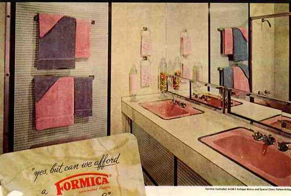 retro bathroom 50s bathroom