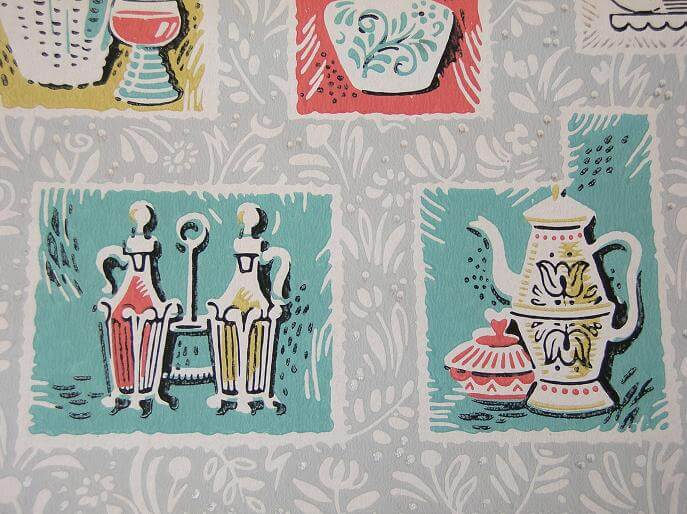 Vintage wallpaper for your 50s kitchen and bath - another ...
