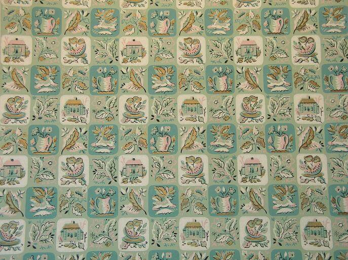 50s vintage wallpaper for your retro kitchen