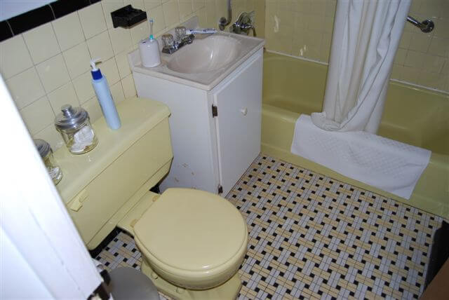 Yellow and Black Bathroom Ideas Yellow Pedestal Sink