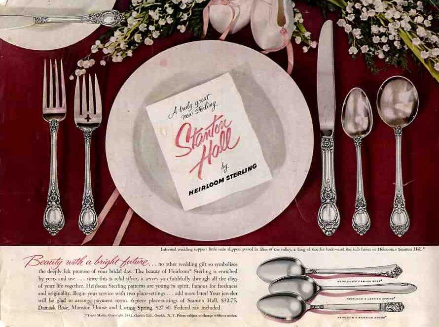 vintage 1952 oneida silverware