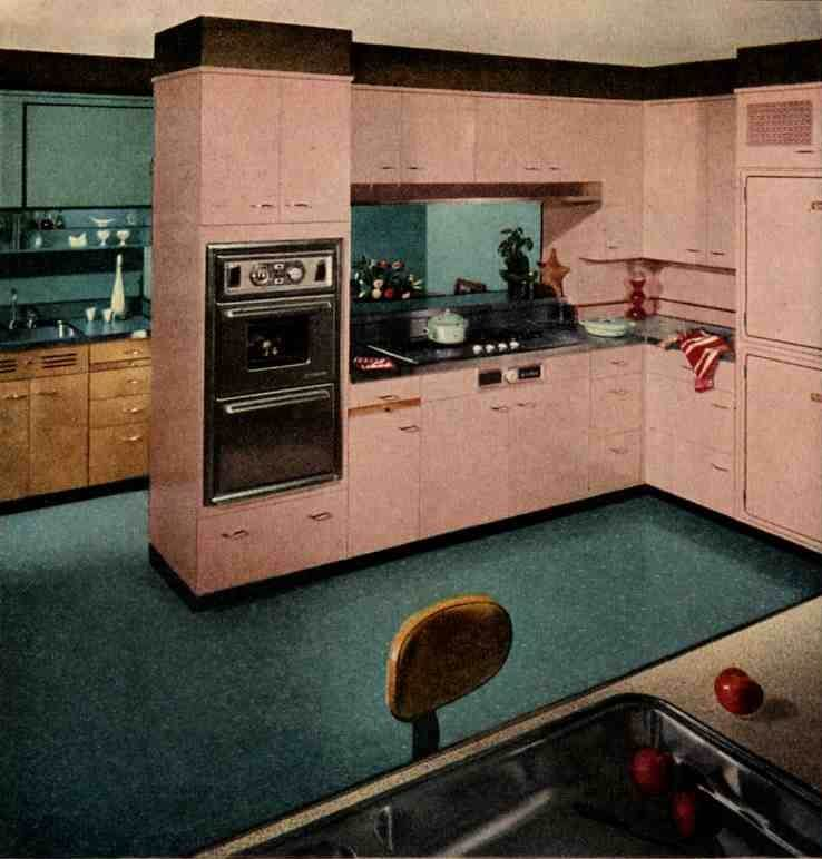 48 An honorary pink kitchen pink + classic birch plywood cabinets