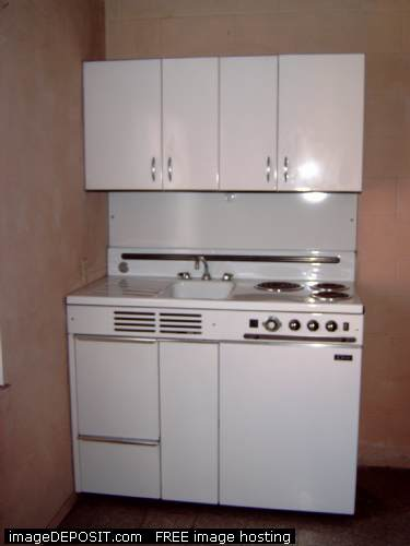 Combo Kitchen Units. Compact Kitchen With Stove Refrigerator And ...