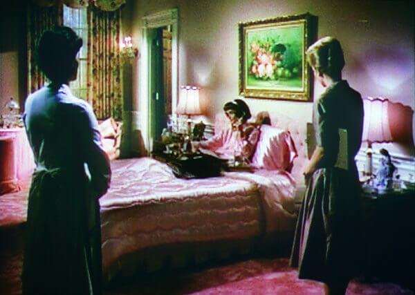 A recreation of Mamie's bedroom in a movie