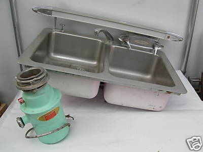 retro kitchen sink with light attached