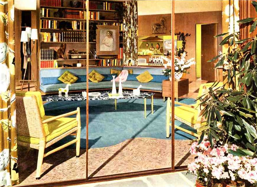 50s Living Room Soothing Modern Color Ideas From A 1954