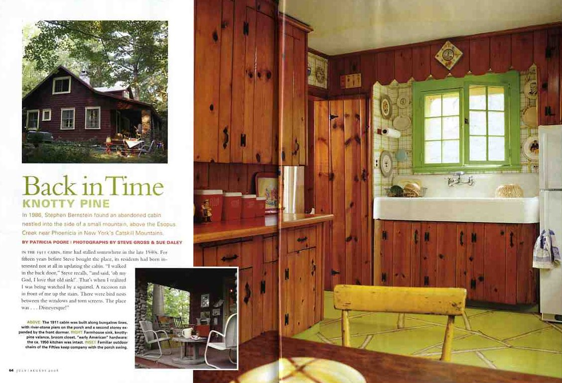 Knotty Pine Kitchen And More In This Month 39 S Old House Interiors Retr