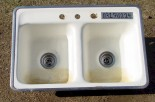 Get the sink vintage -- or Kohler has one just like this including with the Hootie ring.