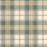 Waverly wallpaper - there are lots of plaids to choose from. Of course, if you use blue laminate - you will use wallpaper that picks up blue rather than green