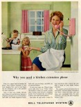 Original ad: Promoting a telephone for your kitchen!