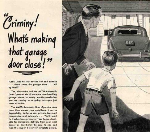 Vintage garage door