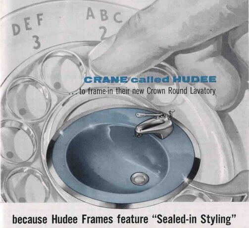 1958 hudee ring for a crane bathroom lav sink