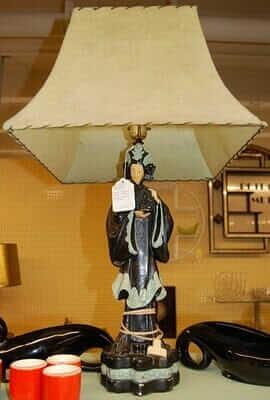 Midcentury oriental lamp