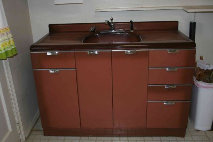 how old is this metal cabinet and kitchen sink - Sink Cabinet Kitchen