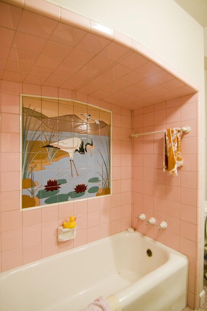 Mosaic Tile Company pink cranes