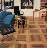Vinyl woodplanks in birch and teak, Kentile
