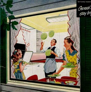 1948 GE Kitchen Lighting Ad