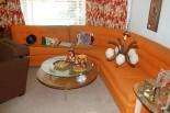 orange 60s sectional