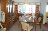 hollywood regency meets danish modern dining room