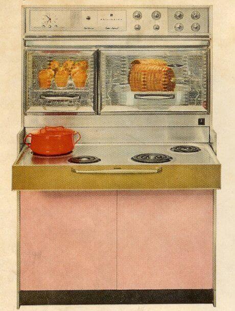 vintage frigidaire flair stove