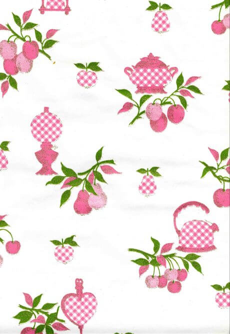 wallpaper kitchen. vintage-pink-kitchen-wallpaper
