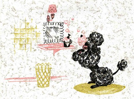 wallpaper vintage. Vintage pink poodle wallpaper…