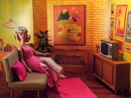 midcentury furniture for barbie