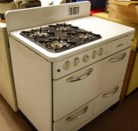 A late 40s or early 50s Glenwood gas stove.