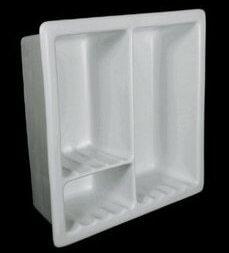 ceramic shower shelf recessed. Black Bedroom Furniture Sets. Home Design Ideas