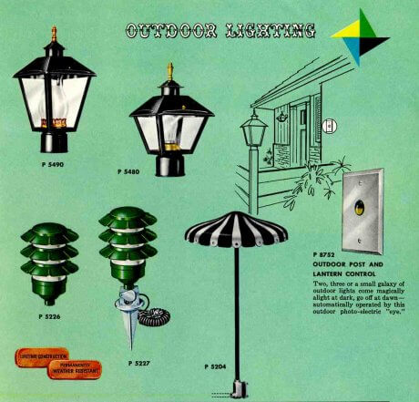 41 midcentury lighting ideas - post lanterns, lamp posts, wall ...