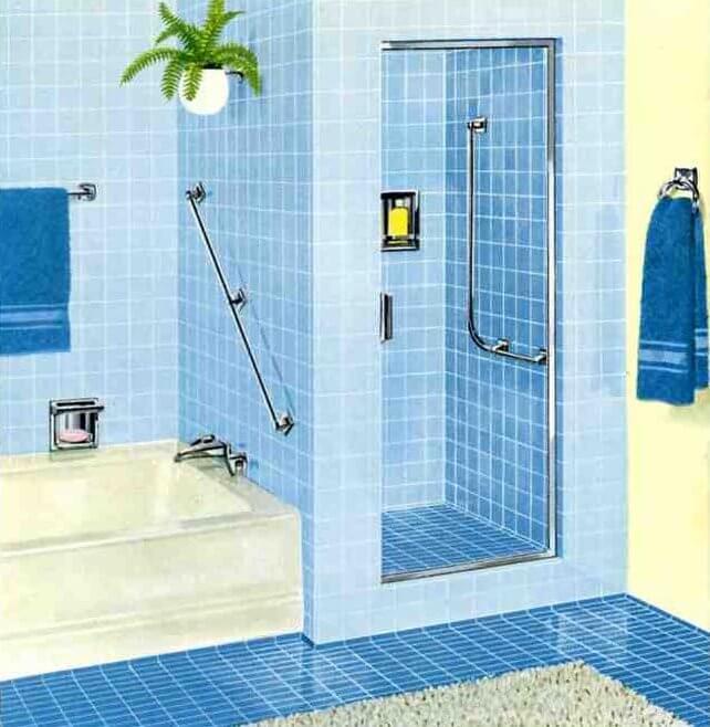 Mid Century Bathroom Tile: Six Mid-century Bathrooms, Vintage 1962