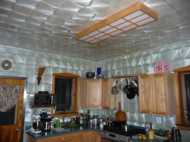 Gray Tile Kitchen