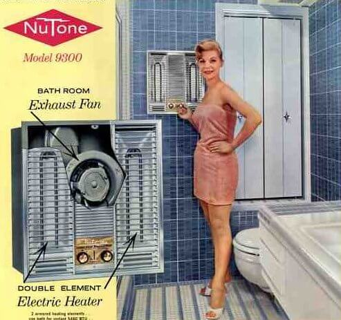Vintage 1960 electric bathroom heaters - Retro Renovation