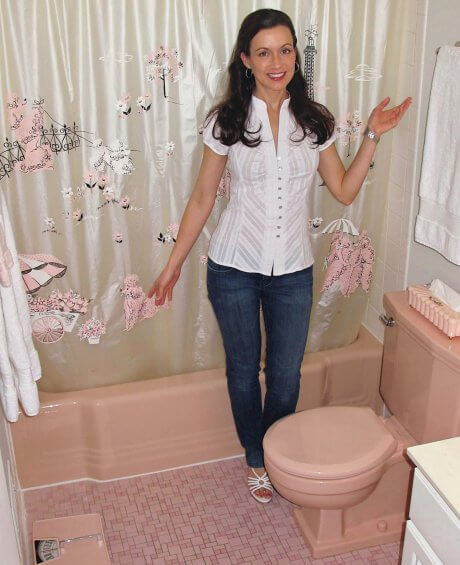 pink bathrooms archives  retro renovation, Home design/
