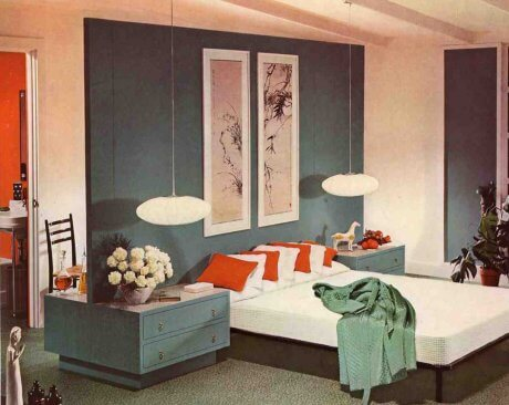 Mid century modern bedroom lovely retro renovation