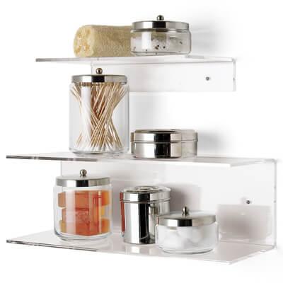 simple acrylic shelves